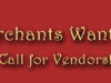 Call for Merchants (Vendors)!