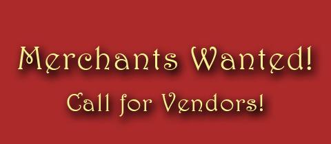 Call for Merchants (Vendors)!